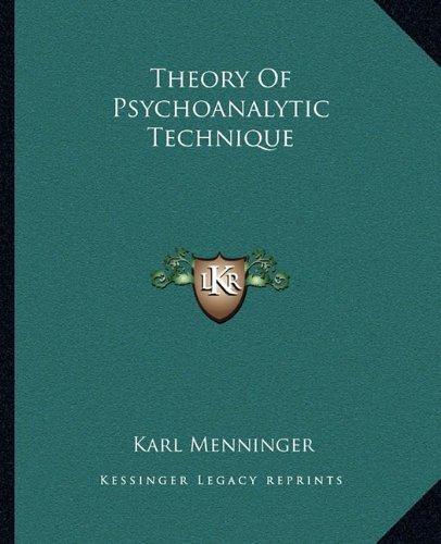 theoryof-psychoanalytic-technique