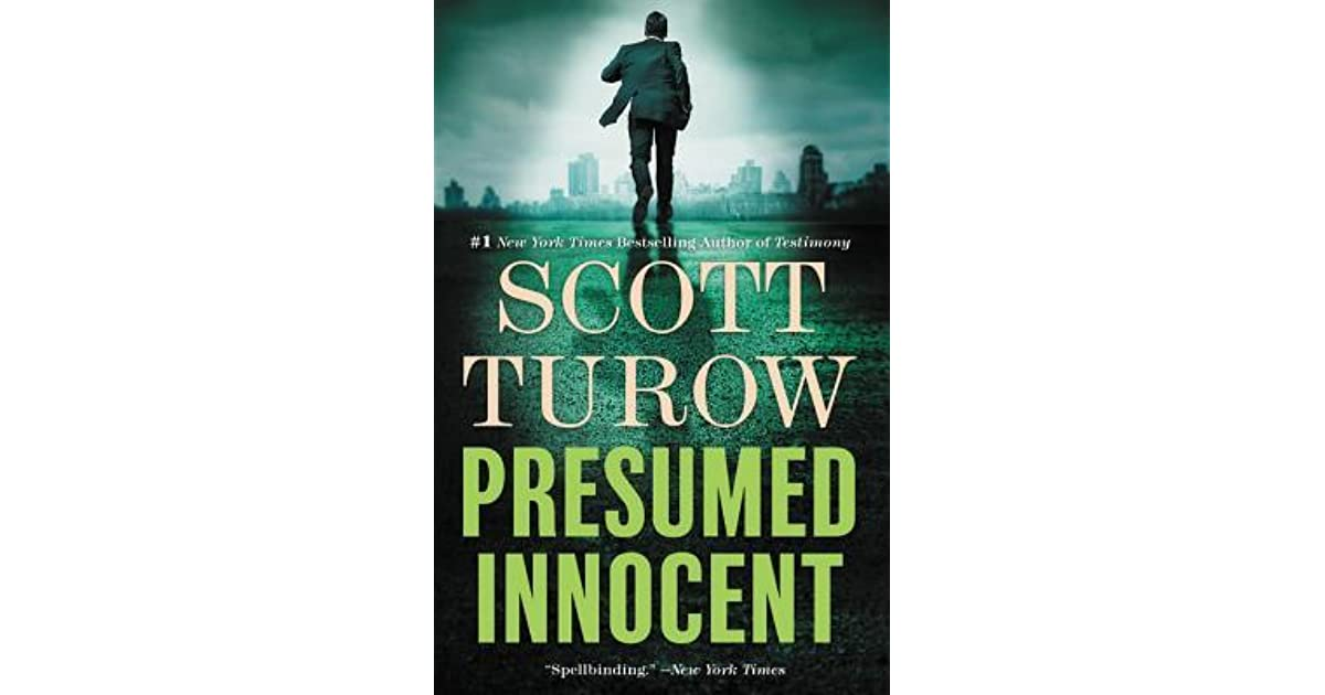 book giveaway for presumed innocent by scott turow may 14 may 28 2017 - Presumed Innocent Book