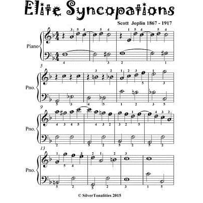 elite syncopations - easiest piano sheet music for beginner pianists by  silver tonalities  goodreads