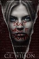 Don't Write it Down (Rainbow Noir #1)