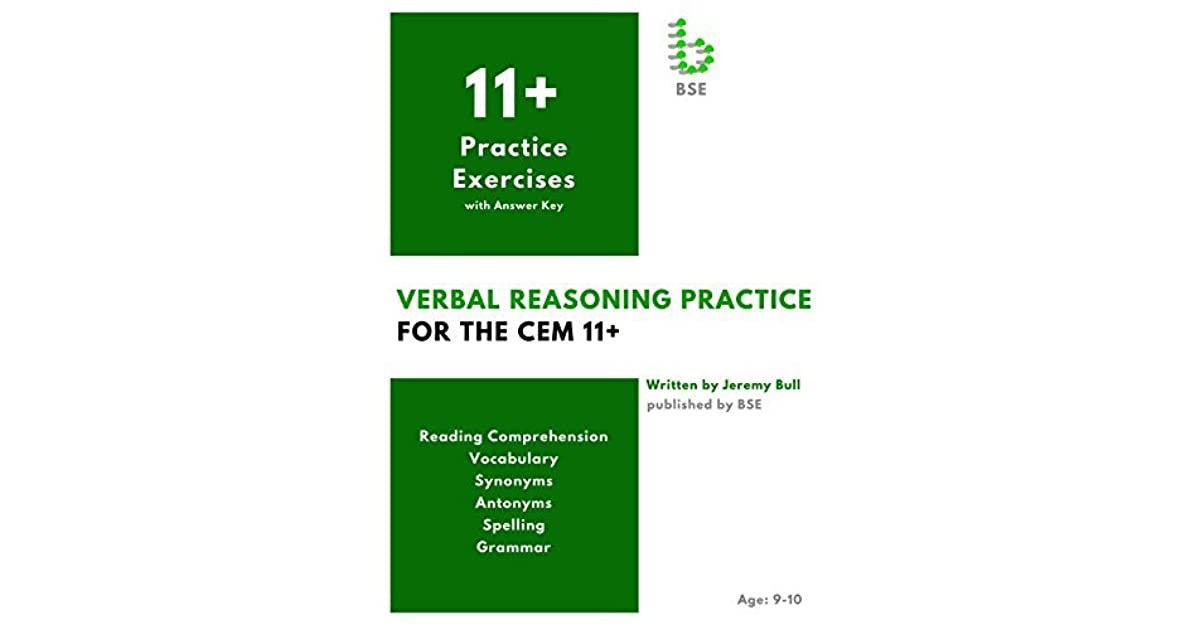 Verbal Reasoning Practice for the CEM 11+ by Jeremy Bull