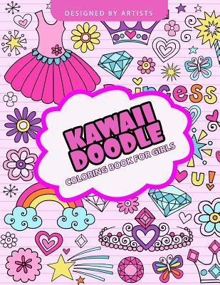 Kawaii Doodle Coloring Book for Girls