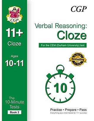 10-Minute Tests for 11+ Verbal Reasoning: Cloze Ages 10-11 - CEM Test: Book 2