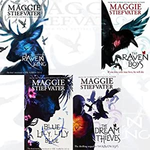 The Raven Boys, The Dream Thieves, Blue Lily Lily Blue, The Raven King (The Raven Cycle #1-4)