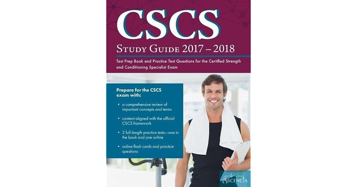 CSCS exam study - YouTube