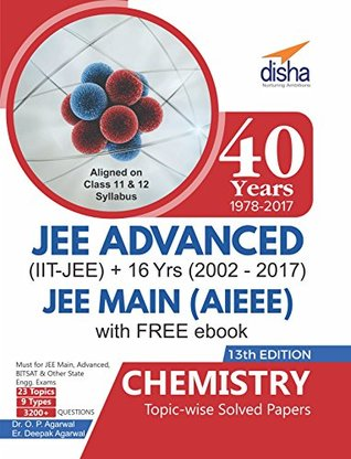 40 Years IIT-JEE Advanced + 16 yrs JEE Main Topic-wise Solved Paper Chemistry with Free eBook