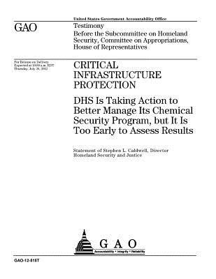 Critical Infrastructure Protection: Dhs Is Taking Action to Better Manage Its Chemical Security Program, But It Is Too Early to Assess Results: Testimony Before the Subcommittee on Homeland Security, Committee on Appropriations, House of Representatives