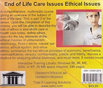 End of Life Care Issues Ethical Issues: A Guide for Healthcare Providers, Patients, and Families on the Care of the Dying [AUDIOBOOK] [CD] (End of Life Care Issues