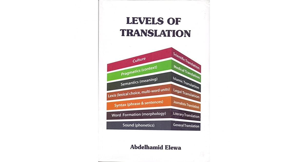 تحميل كتاب levels of translation