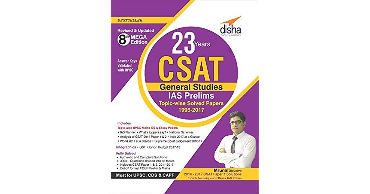 23 Years Csat General Studies Ias Prelims Topic Wise Solved Papers