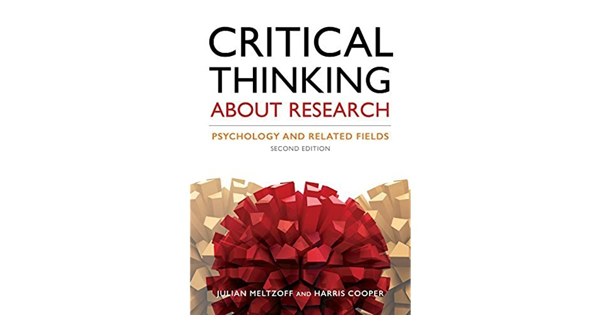 critical thinking about research psychology and related fields julian meltzoff