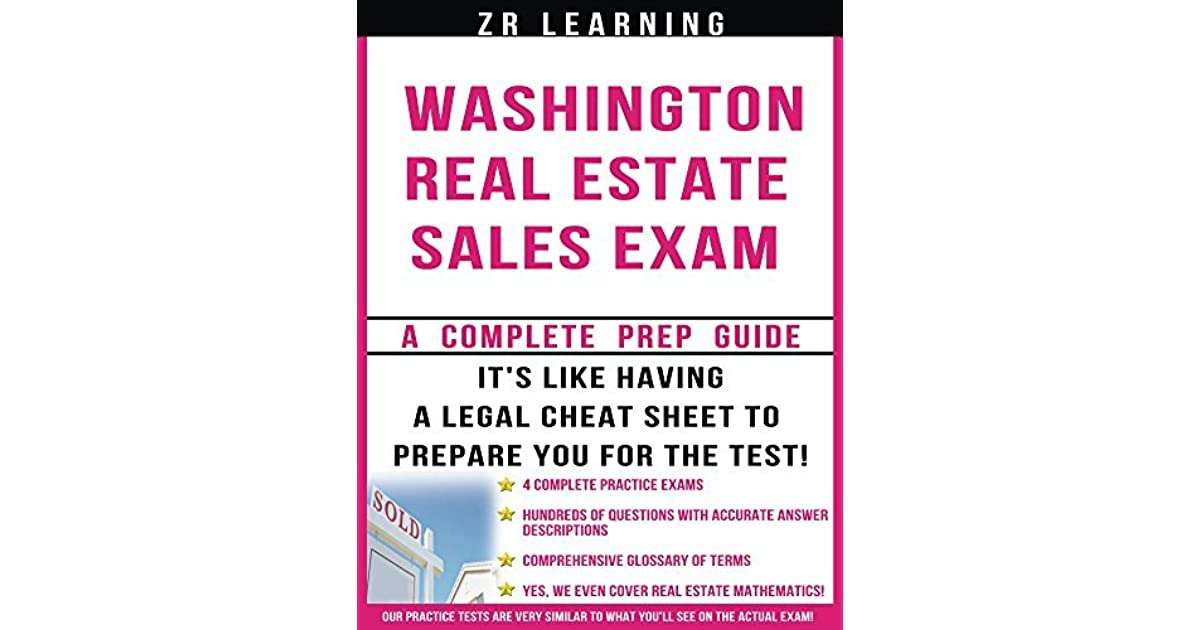 Washington Real Estate Sales Exam Questions by Zr Learning