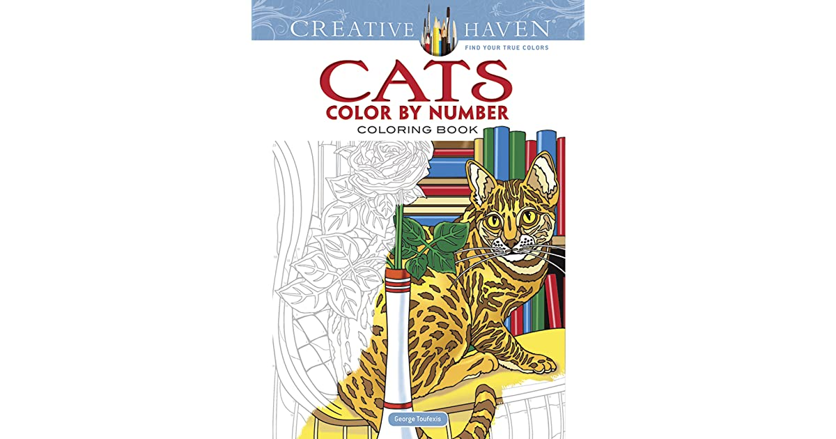 Creative Haven Cats Color By Number Coloring Book George