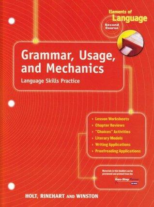 Grammar Usage And Mechanics Language Skills Practice For