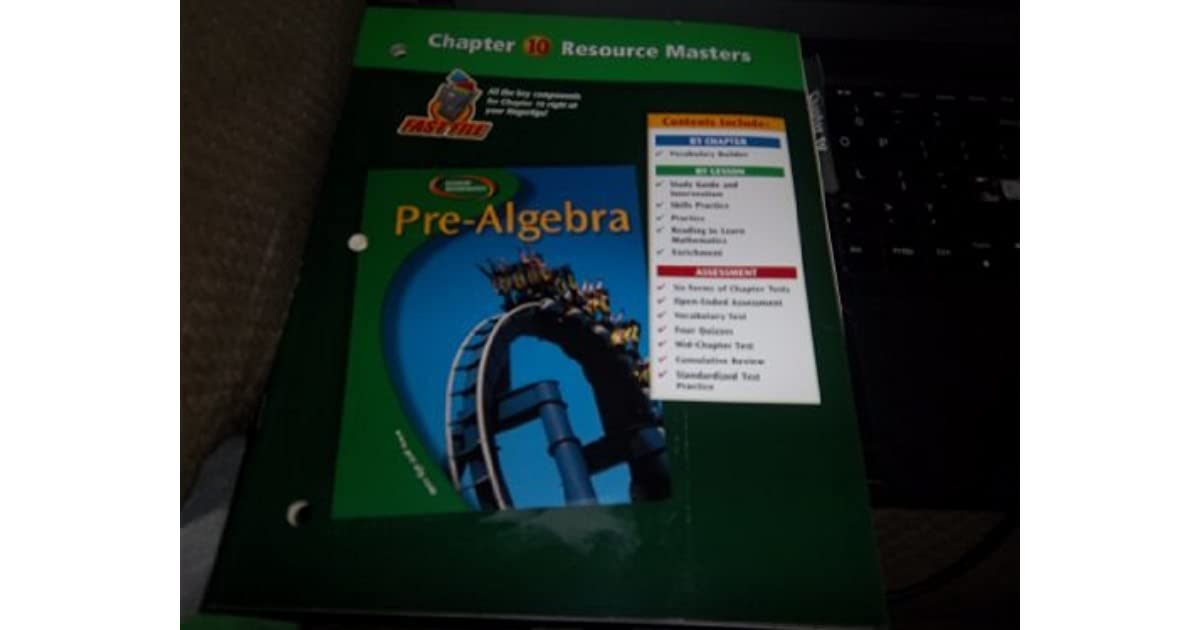 Pre Algebra Chapter 10 Resource Masters By Glencoe McGraw Hill