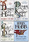 Robin Hobb The Rain Wild Chronicles Trilogy Collection 4 Books Set (The Dragon Keeper,Dragon Haven,City of Dragons,Blood Of Dragons)