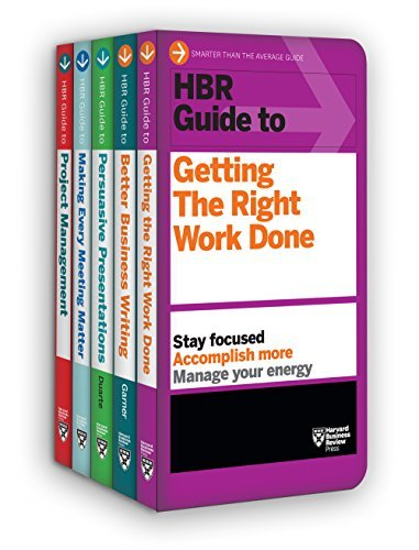 HBR Guides to Being an Effective Manager Collection 5 Books