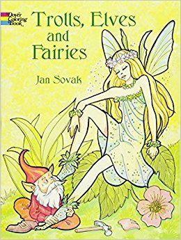 Trolls, Elves and Fairies (Dover Coloring Books) by Jan Sovak