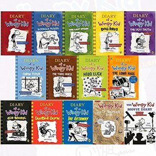 Diary Of A Wimpy Kid Complete Collection 14 Books Set By Jeff Kinney Diary Of A Wimpy Kid Rodrick Rules The Last Straw Dog Days The Ugly Truth The Getaway Hardcover Double Down The Wimpy Kid Movie By