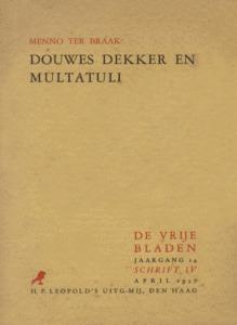 Douwes Dekker en Multatuli by Menno ter Braak
