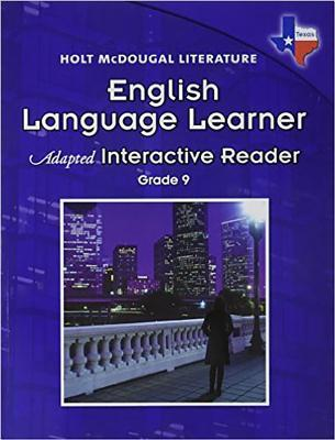 Holt McDougal Literature English Language Learner Adapted