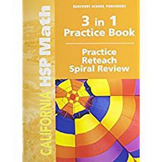 Harcourt School Publishers Math: Practice/Reteach Workbook Student Edition Grade 5