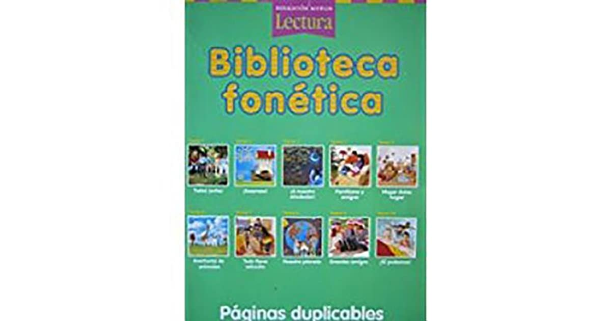 Houghton Mifflin Reading Spanish Phonics Library Theme 1