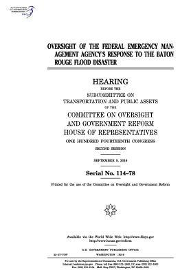 Oversight of the Federal Emergency Management Agency's Response to the Baton Rouge Flood Disaster