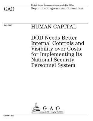 Human Capital: Dod Needs Better Internal Controls and Visibility Over Costs for Implementing Its National Security Personnel System