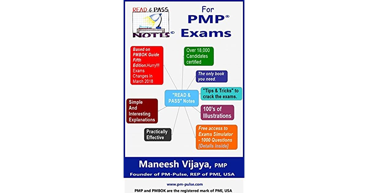Read And Pass Notes For Pmp Exams Based On Pmbok Guide 6th Edition