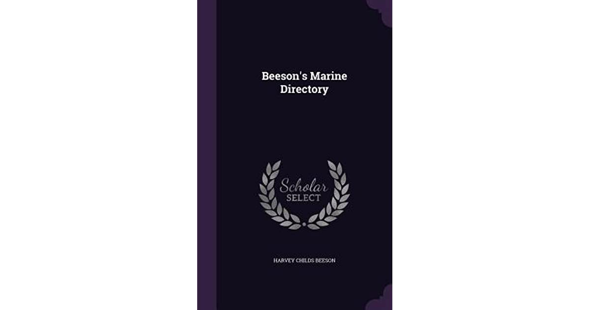 Beeson's Marine Directory by Harvey Childs Beeson