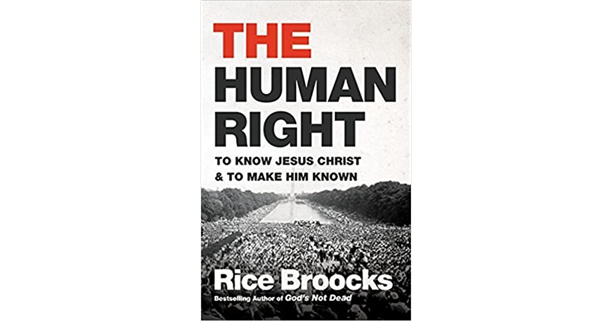 Understand That The Right To: Book Giveaway For The Human Right: To Know Jesus Christ