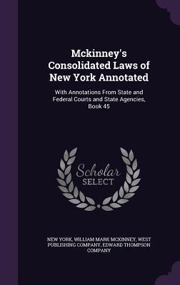 McKinney's Consolidated Laws of New York Annotated: With Annotations from State and Federal Courts and State Agencies, Book 45
