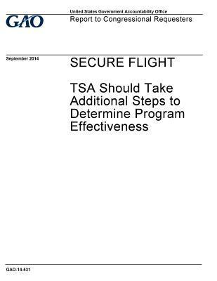 Secure Flight: Tsa Should Take Additional Steps to Determine Program Effectiveness