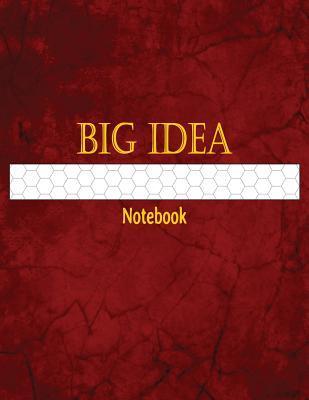 Big Idea Notebook: 1/2 Inch Hexagonal Graph Ruled Sematol Books