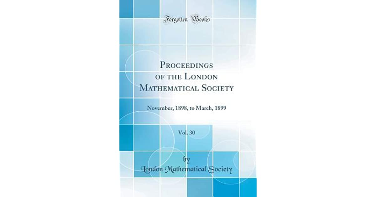 Proceedings of the London Mathematical Society, Vol  30