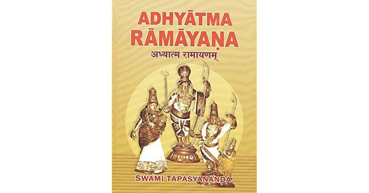 Adhyatma Ramayana by Swami Tapasyananda