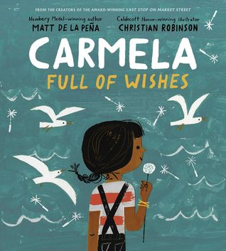 Carmela Full of Wishes cover art with link to Goodreads description