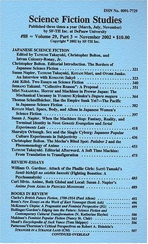 Science Fiction Studies #88 - Volume 29, Part 3: Japanese Science Fiction (Special Issue)