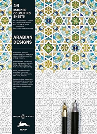 Arabian Patterns Marker Colouring Sheets By Pepin Van Roojen