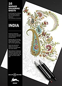 India: Marker Colouring Sheet Book (Multilingual Edition)