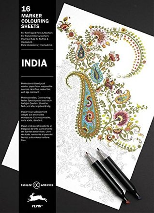 India: Marker Colouring Sheet Book (Multilingual Edition) (English, Spanish, French and German Edition)
