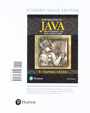 Introduction to Java Programming and Data Structures, Comprehensive Version, Student Value Edition Plus MyLab Programming with Pearson eText - Access Card Package (11th Edition)