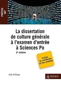 La dissertation de culture générale à l'examen d'entrée à Sciences Po
