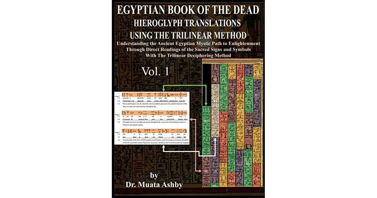 Egyptian Book of the Dead Hieroglyph Translations Using the