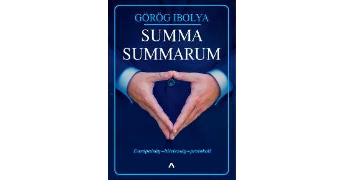 Summa Summarum By Gorog Ibolya
