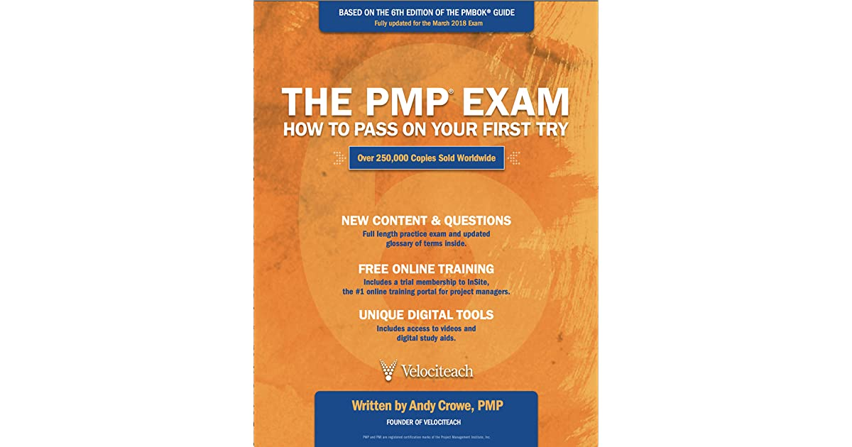 The Pmp Exam How To Pass On Your First Try Sixth Edition By Andy Crowe