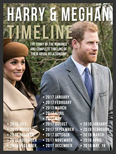 Book cover Harry & Meghan Timeline - Prince Harry and Meghan, The Story Of Their Romance The Complete Timeline Of Their Royal