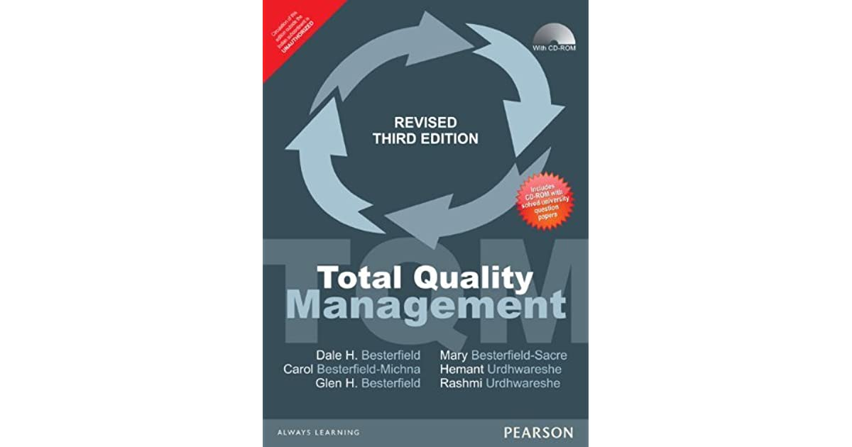 Total Quality Management Book By Besterfield Pdf