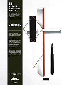 Modernism: Marker Colouring Sheets